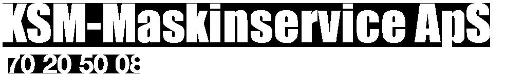 KSM Maskinservice